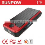 sunpow 13600mah New Multi-Function Auto 12v car jump starter Power Bank station Battery Charger with Air compressor