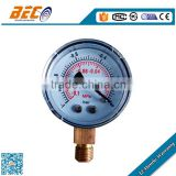 (YZ-40A) 40mm ABS plastic case cheap price dial style vacuum pressure gauge movement manometer