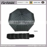 3 fold high quality deluxe umbrella, easy open and close rainproof umbrella