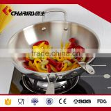 High quality Chinese wok range Tri-ply steel two handles wok