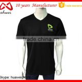 China Clothes Factory 100% Cotton T Shirts Man Woman Promotion Custom Design V Neck Tee Shirts