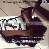 OEM ODM high quality genuine leather women lace up sandals shoes high heel Shoe Manufacturer