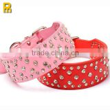 China leather personalized dog collars wholesale