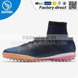 Brand Custom Superfly Quality Indoor Men High ankle Artificial turf Soccer Shoes                                                                         Quality Choice