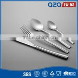 Baby stainless steel spoon fork set with extra thick ergonomics handle
