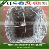 Standard 2.5mm wire diameter 2 strands 4 points Barbed Wire
