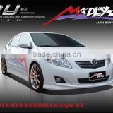 body kit for TOYOTA 07 08 COROLLA Style KS