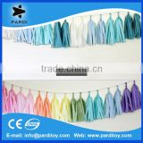Colorful party tissue paper tassel garland decoration                                                                         Quality Choice