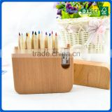 BSCI certificated mini promotional color pencil boxed gift set with wood sharpener                                                                                                         Supplier's Choice