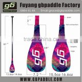 2015 full carbon fiber graphic stand up paddles bamboo surfboard paddle