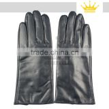 black leather driving gloves sheep leather gloves ladies fashion sheepskin leather gloves