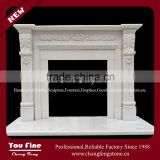 Indoor Used Freestanding Decorative Marble Electric Fireplace