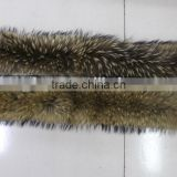 Large Natural Raccoon Fur Collar for Jacket Collar Wrap Scarf