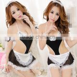 Sexy Women Halloween Costume Cosplay French Maid Lingerie Outfit Fancy Dress                                                                         Quality Choice