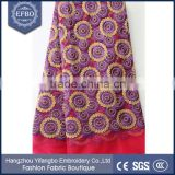 Beautiful purple circle pattern French lace 2016 good quality embroidery fabric tulle wholesale african lace with stone