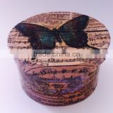 butterfly full printing round cardboard gift box jewellery gift box with lid luxury packaging