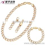 guangzhou fashion jewelery set charm jewelry gold filled chain jewelry set