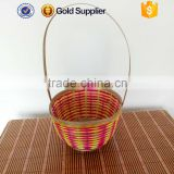 2016 wholesale cheap small rattan wicker bamboo flower basket