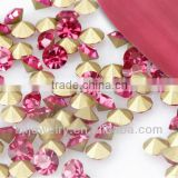 KJL-PB037 Factory price wholesale non hot fix rhinestone high quality point back rhinestone