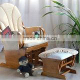 2013 baby TF04T-4 Glider Chair with ottoman in beige cushion