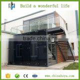 China export 50 m2 2 floor modern fashion wooden decorationconcrete prefabricated container houses in saudi