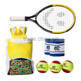 OEM Production Tennis Kit for Kids with 1 Tennis Backpack, 3 Tennis Balls for Kids And 2 Wristbands 1 junior Tennis Racket