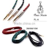 wholesale Woven musical instrument cable for guitar accessories