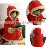 alibaba wholesale high quality low price baby girl red long sleeve hooded mascot costume