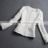 Custom Design Winter Jacket Wholesale Long Sleeve Boucle Jacket Kurti For Women