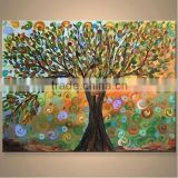 Beautiful uv printed abstract tree acrylic painting