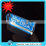 decorative printing acrylic brands sign logo block, customized acrylic paperweight in shenzhen