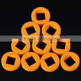 24X4mm pulley Belt Wheel orange for Toy Robot car model, Square hole