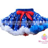 Factory direct girl party wear western dress blue tutu skirt for baby girl tutu skirt in plus size dress & skirt baby frock desi