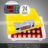 Topselling new type mini incubator egg automatic for hating 24 chicken eggs (96 quail eggs )