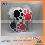 Promotional Plastic Magnetic Clip,Dog Paws Magnet Clip, Magnetic Paper Clip Holder with Custom Logo