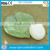 Natural Leaf Shape Ceramic Handmade Soap Dish