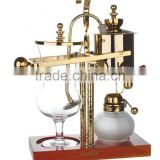 royal belgium balancing syphon coffee maker,syphon1 cup coffee maker /machine,gold/silver