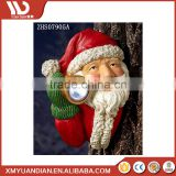 Wholesale Solar Led Outdoor Wall Light Polyresin Resin Christmas Ornaments For Tree Decoration