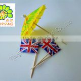 colorful decorative bamboo wooden toothpick flags