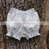 Wholesale Children's Clothing Blank Jogger Pants Baby Soft Ruffle Bloomers Girl Floral Patterns Short