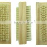 Best seller two side wooden handle shoe brush