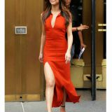 Women Designer Dress Red Fashion Low V Neck Celebrity Party Dress China Online Wholesale