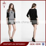 New boat neck pullover women long sleeve formal sweater dress
