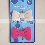 plastic decorative butterfly clips