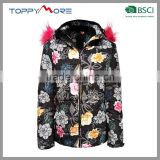 China OEM Polyester Winter Jacket For Woman Softshell Ski Jacket