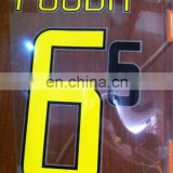 14/15 football jersey name and number stickers on soccer jerseys film cheep t-shirt heat transfer sticker