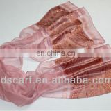 In stock Single-layer color silk cheapest pink scarves