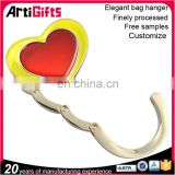 Wholesale heart shape folding bag hook for table desk bag hook