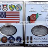 Custom square metal navy souvenir coin/3D army challenge coin for USA, military square challenge/collection 3D coin