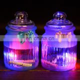 led light glass bottle with secret paper note bow knot colored wishing bottle with charms lucky glass bottle cork